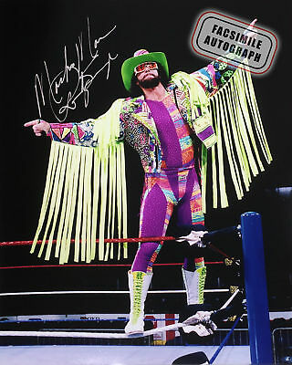 Facasimile Autographed Randy Macho Man Savage Photo - WWE