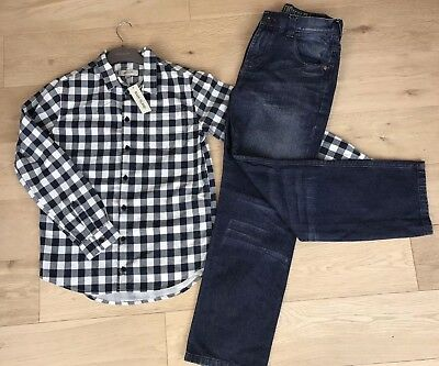 RIVER ISLAND & NEXT **12y BOYS JEANS & (new SHIRT) WINTER WEAR AGE 12 YEARS