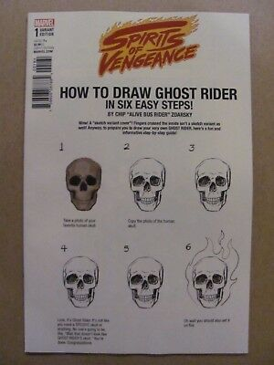 Spirits of Vengeance #1 Marvel Legacy 2017 Ghost Rider How To Draw Variant 9.6