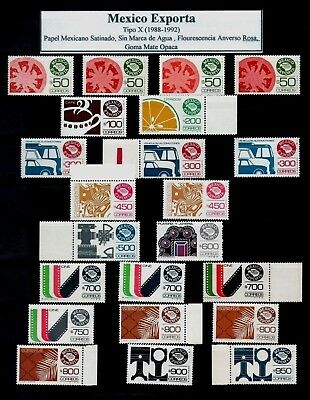 MEXICO EXPORTA Type 10 Collection of 45 stamps Shades & Varieties E= $465