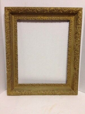 "Large Wood Gesso Gold Gilt Art Portrait  Frame For a 20"" X 16"" Picture Nice!"