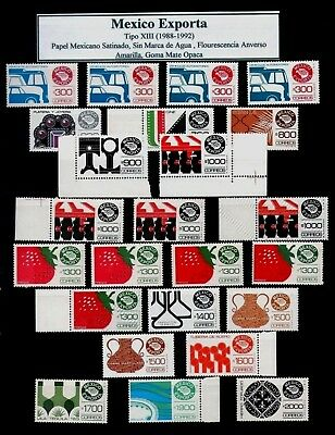 MEXICO EXPORTA Type 13 Collection of 38 stamps Shades & Varieties E= $568