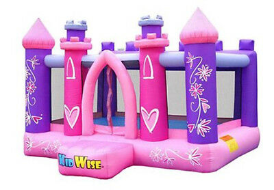 Bounce House For Kids Princess Party w/ Blower Netting Heavy Duty Girls Pink New