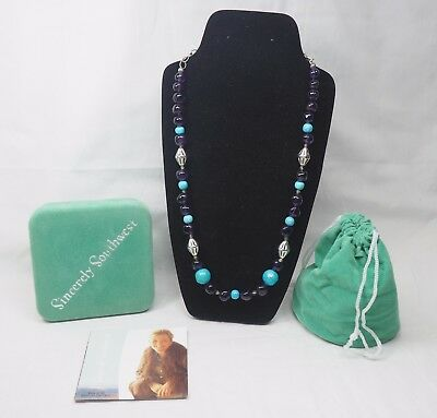 Carolyn Pollack Sincerely Southwest Sterling Silver & Stone Beaded Necklace