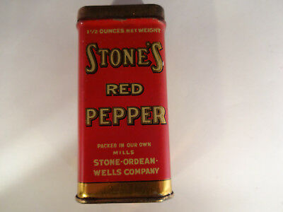 Great Vintage Stone's Red Pepper Spice Tin Duluth Minnesota Stone Ordean Wells