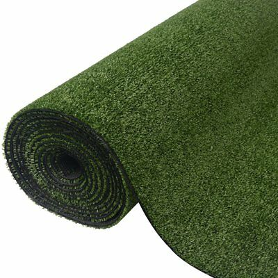 vidaXL Artificial Grass Fake Mat Green Turf Cover Home Outdoor 1x25 m Green