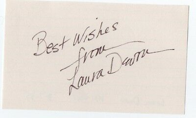 """""""Chamber of Horrors"""" Laura Devon Authentically Autographed Index Card"""