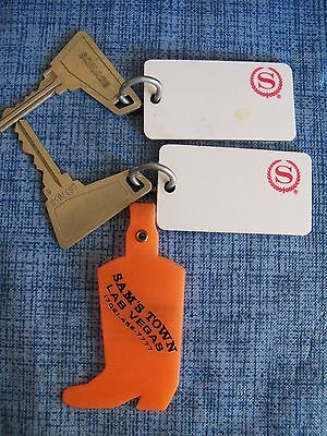 Hotel Keys From The Sheraton Hotel In Las Vegas & A Sam's Town Key Fob
