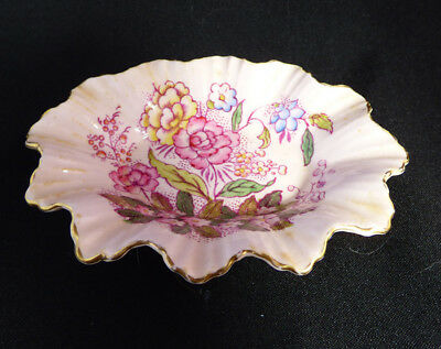Pink Adderly Floral Pin Dish