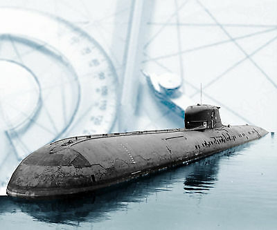 "Model Submarine PLANS 40"" Radio Control Russian Charlie Class Plan & notes on Cd"