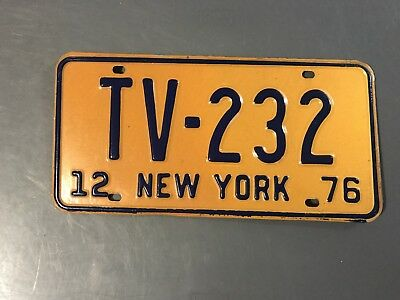 New York License Plate Television Tv-232 1976