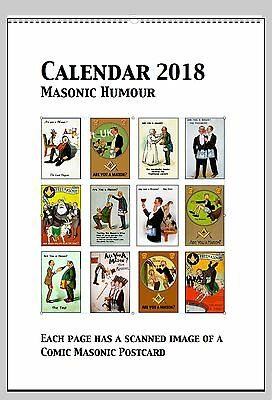2018 Freemasons Calendars  with a touch of humour