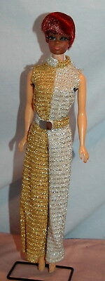 Talking Julia Original Silver Gold Jumpsuit, Julia Head, VTG mod White TNT Body