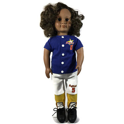 Our Generation Battat 1998 18 in Doll Dark Complexion Soccer Outfit