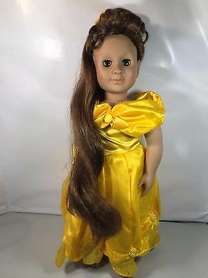"""Our Generation Battat 1998 18"""" BELL Doll with Yellow Princess Dress"""