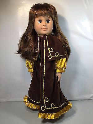 Our Generation Battat 1998 18 inch Long Brown Hair Long Brown and Gold Gown Doll