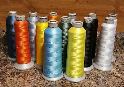 Madeira Embroidery Polyneon Thread(lot of 13)(partial 5000m) Multi-colored #14