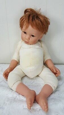 Lee Middleton Baby Doll by Eva Helland 2002 Red Hair Brown Eyes Soft Body