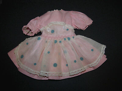 RARE 1950's Ideal P90 Toni Pink Pinafore Dress with Attached Panty Minty!