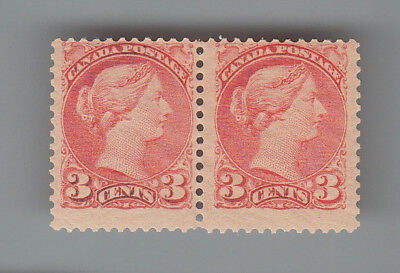 CANADA #  41  MNH Pair Small Queen MOG NH...2 scans