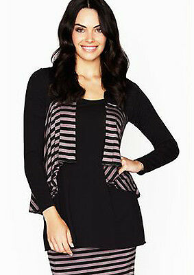 Layer'd Timeless Cropped Loose Striped Cardi - final clearance!!