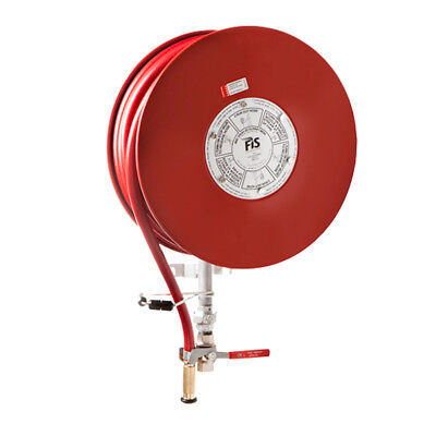 Fire Hose Reel 19mm x36M Red Hose. Brass Nozzle. Special Price