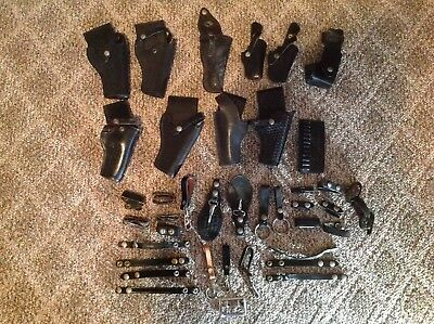 HUGE lot Police Sheriff Security Pistol Holsters Key Holders Belt Keepers