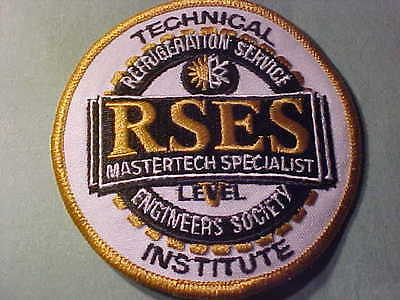 Rses Mastertech Specialist Refrigertion Patch  Embroided 3 3/4 In   Sew Or Iron