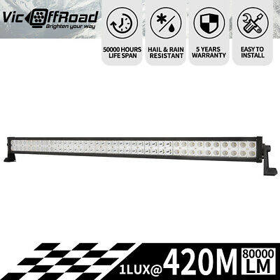 LIGHTFOX 52inch CREE LED Light Bar Spot Flood Combo Offroad Driving 4x4