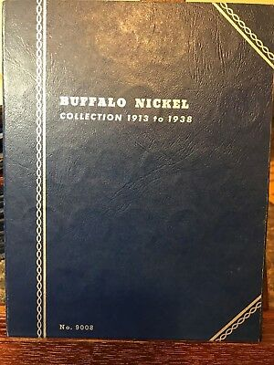 Buffalo Nickel Collection 1913 To 1938 Folder No.9008  51 Coins Included