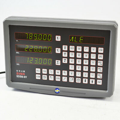 Sino 3 Axis Digital Readout Dro Kit  With Linear Scales For Mill Milling Machine