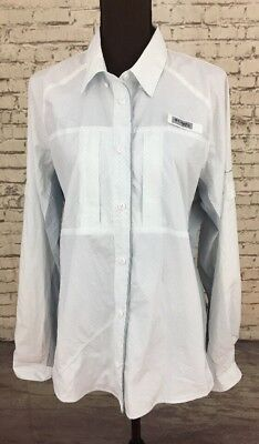 Columbia PFG Women's Long Sleeve Button Up Omni Freeze Zero Shirt Sz XL