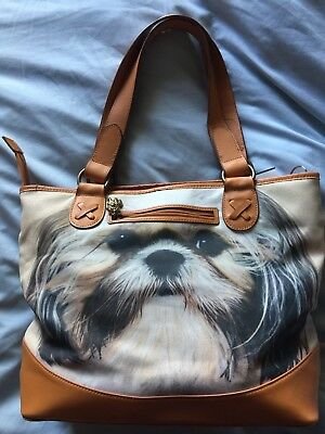 "Shih-tzu handbag by "" Ardleigh Elliott""  labeled: Faithful Friends"
