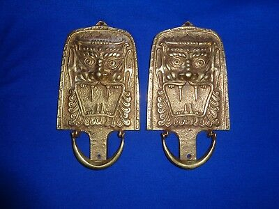 Antique Brass Dragon Drawer or Cabinet Door Pulls