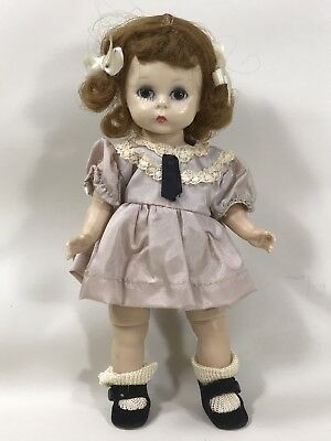 1950s Red Hair Madame Alexander-kins  Doll in Lavender Dress w Black Tie