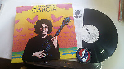 Jerry Garcia LP '74 compliments of DJ PROMO Grateful Dead psych w/skull STICKER!