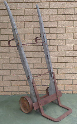 Vintage Wooden Railways Trolley,with Old Fashioned Cast Iron Wheels.  Opt. 2