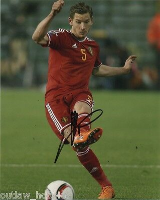 Belgium Jan Vertonghen Autographed Signed 8x10 Photo COA