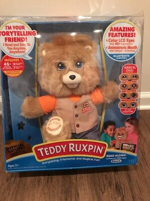 2017 Teddy Ruxpin Animated Bear Original Outfit Bluetooth  - Hot Toy