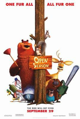 OPEN SEASON MOVIE POSTER Animation 2006 Film ~ Original DS 27x40