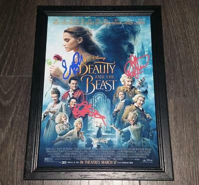"""Beauty And The Beast Pp Signed & Framed A4 12X8"""" Photo Poster Emma Watson"""