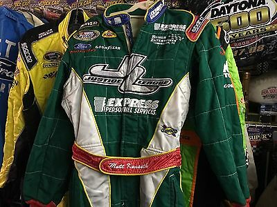 Matt Kenseth Race Worn Used Drivers Firesuit Autographed Fire Suit RARE Chase