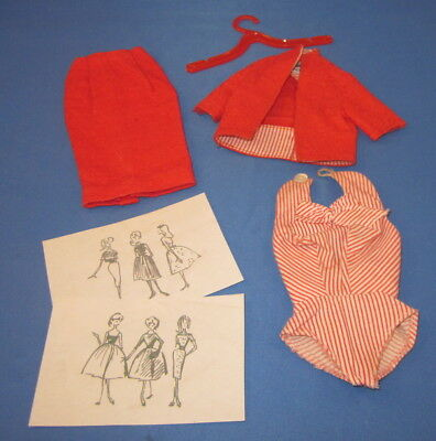 Vintage TAGGED 1960-61 Barbie BUSY GAL  #981 Partial Outfit