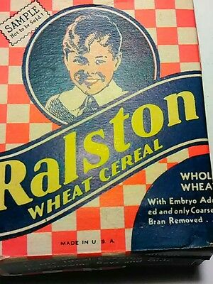 Vintage Ralston Wheat Cereal Free Sample Box 1940's