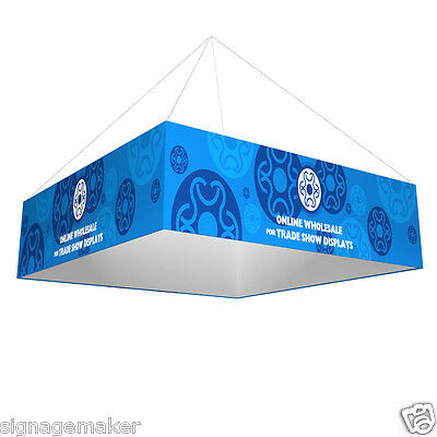 8ft x3.5ft Square Tension Fabric Hanging Sign Trade Show Display+ Single Graphic