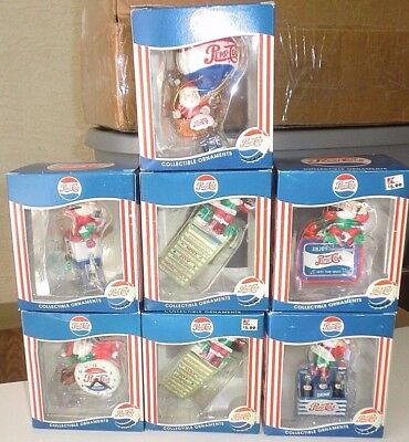 1990s PEPSI Collectible Santa Claus Christmas Ornament lot