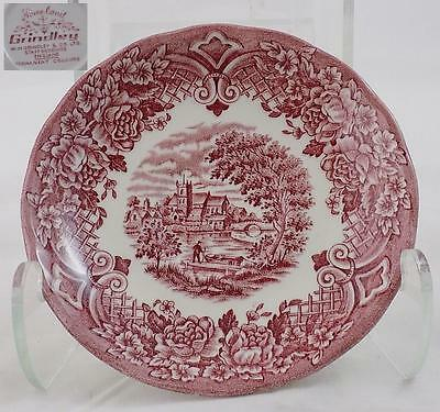 Antique Grindley Saucer Pink Homeland Pattern EXCELLENT CONDITION RARE