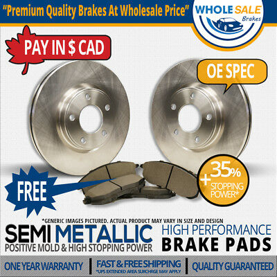 Front Rotors & SemiMet Pads-For:-2007 2008 Ford Mustang Shelby GT500