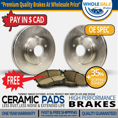 Front Rotors & Ceramic Pads For-2007 2008 Ford Mustang Shelby GT500