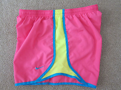 Nike Tempo Shorts Dri Fit Pink Teal Lime Track Running Women Medium M
